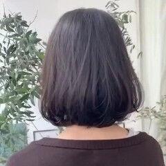 ワンレン フェミニン ショートボブ ワンレングス ヘアスタイルや髪型の写真・画像
