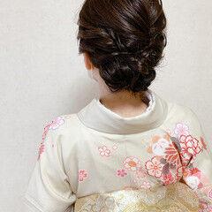 結婚式ヘアアレンジ 着物 和装ヘア エレガント ヘアスタイルや髪型の写真・画像