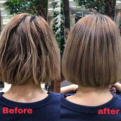 ボブ 最新トリートメント ナチュラル 髪質改善トリートメント ヘアスタイルや髪型の写真・画像