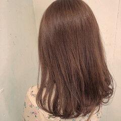 透明感カラー ミディアム 透明感 ワンレンベース ヘアスタイルや髪型の写真・画像