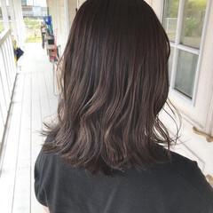 ショコラブラウン ブリーチなし セミロング ブルージュ ヘアスタイルや髪型の写真・画像