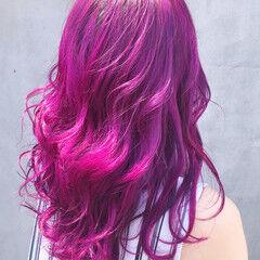 ラベンダーカラー ブルーラベンダー ストリート ラベンダー ヘアスタイルや髪型の写真・画像