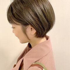 ナチュラル デート ショート ゆるふわ ヘアスタイルや髪型の写真・画像