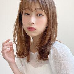 簡単スタイリング ミディアム アンニュイほつれヘア 毛先パーマ ヘアスタイルや髪型の写真・画像
