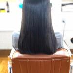 縮毛矯正ストカール ナチュラル 髪質改善トリートメント 黒髪