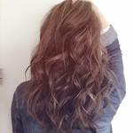 モテ髪 外国人風カラー ロング フェミニン