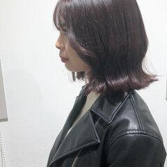 チェリーレッド アンニュイほつれヘア タッセル ガーリー ヘアスタイルや髪型の写真・画像