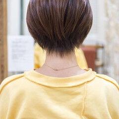 ショートボブ ショート 小顔ショート ハンサムショート ヘアスタイルや髪型の写真・画像