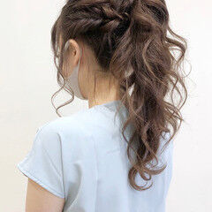 結婚式アレンジ 結婚式ヘアアレンジ ロングヘア ロング ヘアスタイルや髪型の写真・画像