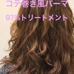 巻き髪 原宿 デジタルパーマ ミディアム ヘアスタイルや髪型の写真・画像