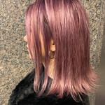 ピンクアッシュ グラデーションカラー コリアンピンク ピンク
