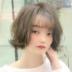 無造作ミックス 無造作 ボブ フェミニン ヘアスタイルや髪型の写真・画像