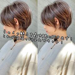 ショートボブ 小顔ショート ショートヘア 似合わせカット ヘアスタイルや髪型の写真・画像