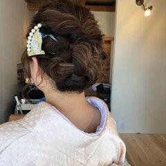 ヘアアレンジ フェミニン アップスタイル ヘアセット ヘアスタイルや髪型の写真・画像