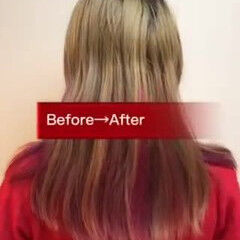 ハイトーン ブリーチ デザインカラー ロング ヘアスタイルや髪型の写真・画像