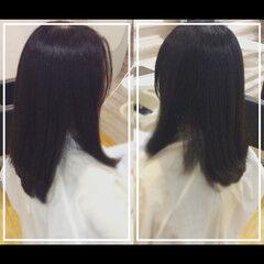 黒髪 大人ヘアスタイル オフィス 髪質改善トリートメント ヘアスタイルや髪型の写真・画像
