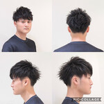 黒髪 メンズヘア ナチュラル ショート