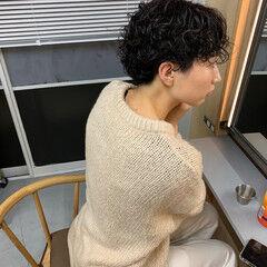 ショート ストリート ショートパーマ 黒髪 ヘアスタイルや髪型の写真・画像