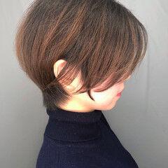 ナチュラル ショートボブ ショート アイロンワーク ヘアスタイルや髪型の写真・画像