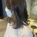 インナーカラー フェミニン ミディアム 3Dハイライト