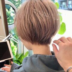 デートヘア 前髪あり ショート ワンカールパーマ ヘアスタイルや髪型の写真・画像