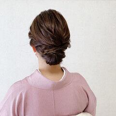 結婚式ヘアアレンジ ミディアム 着物 エレガント ヘアスタイルや髪型の写真・画像