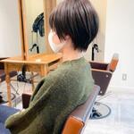 ショートボブ ナチュラル ショートヘア 黒髪ショート