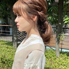 ナチュラル 簡単ヘアアレンジ セルフヘアアレンジ ヘアアレンジ ヘアスタイルや髪型の写真・画像