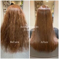 髪質改善 艶髪 ロング エレガント ヘアスタイルや髪型の写真・画像