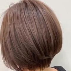 ナチュラル ショートヘア ミニボブ 簡単スタイリング ヘアスタイルや髪型の写真・画像