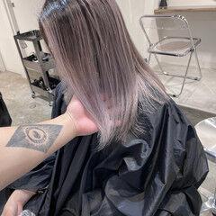 ハイライト ハイトーンカラー うる艶カラー ハイトーンボブ ヘアスタイルや髪型の写真・画像