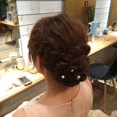 ヘアセット ヘアアレンジ ガーリー アップスタイル ヘアスタイルや髪型の写真・画像