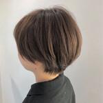 ナチュラル ショートボブ ショートヘア 艶カラー