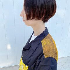 ナチュラル ハンサムショート 小顔ショート ショートカット ヘアスタイルや髪型の写真・画像