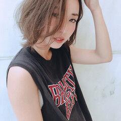 色気 ボーイッシュ ボブ フェミニン ヘアスタイルや髪型の写真・画像