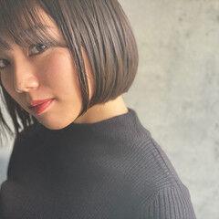 ナチュラル ショートボブ 大人かわいい ミニボブ ヘアスタイルや髪型の写真・画像