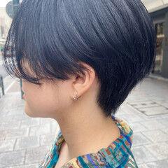 ブルーバイオレット ショート ショートヘア 大人ショート ヘアスタイルや髪型の写真・画像