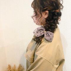 ヘアアレンジ ヘアセット 結婚式 編みおろし ヘアスタイルや髪型の写真・画像