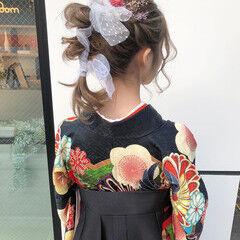 ポニーテール ヘアアレンジ シナモンベージュ 卒業式 ヘアスタイルや髪型の写真・画像