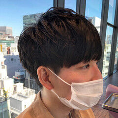 韓国風ヘアー メンズマッシュ メンズショート ショート ヘアスタイルや髪型の写真・画像