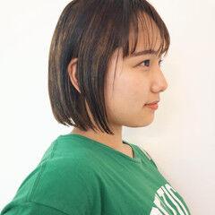 ローライト ナチュラル ミニボブ ボブ ヘアスタイルや髪型の写真・画像