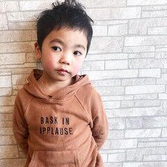 ナチュラル メンズ ボーイッシュ 子供 ヘアスタイルや髪型の写真・画像