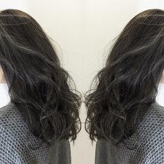 外国人風カラー レイヤーカット エレガント セミロング ヘアスタイルや髪型の写真・画像