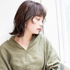 セミディ ミディアムレイヤー ミディ ヘルシーミディ ヘアスタイルや髪型の写真・画像
