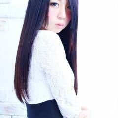 黒髪 ストレート ロング 艶髪 ヘアスタイルや髪型の写真・画像