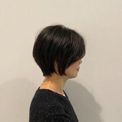ショート ガーリー 絶壁カバー お手入れ簡単!! ヘアスタイルや髪型の写真・画像