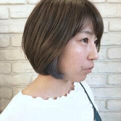 爽やか 抜け感 ボブ ナチュラル ヘアスタイルや髪型の写真・画像