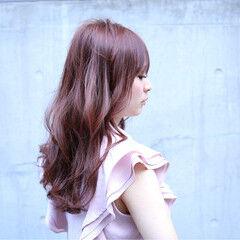 透明感 外国人風 コーラル フェミニン ヘアスタイルや髪型の写真・画像