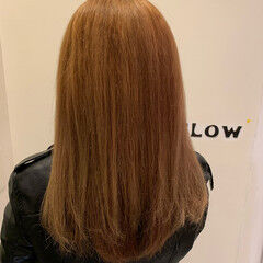 カッパー 大人ロング ブリーチカラー ロング ヘアスタイルや髪型の写真・画像