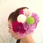 ロング 着物 花 和装